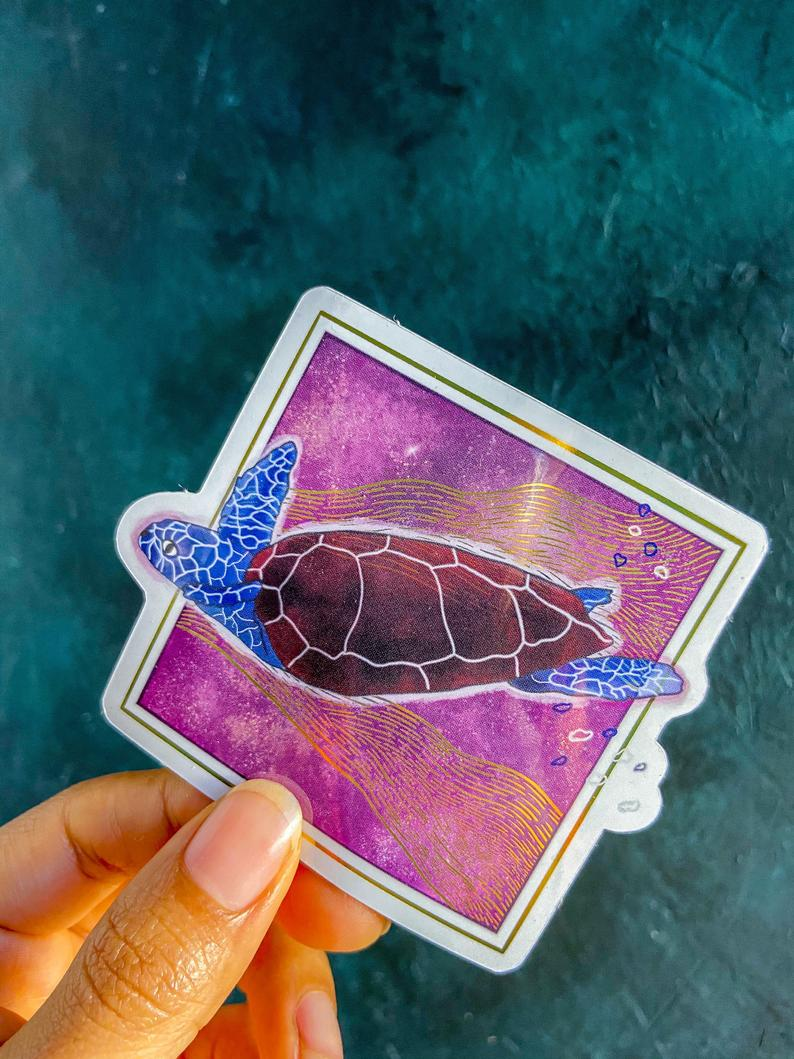Sea Turtle Sticker: Animal Guide Collection