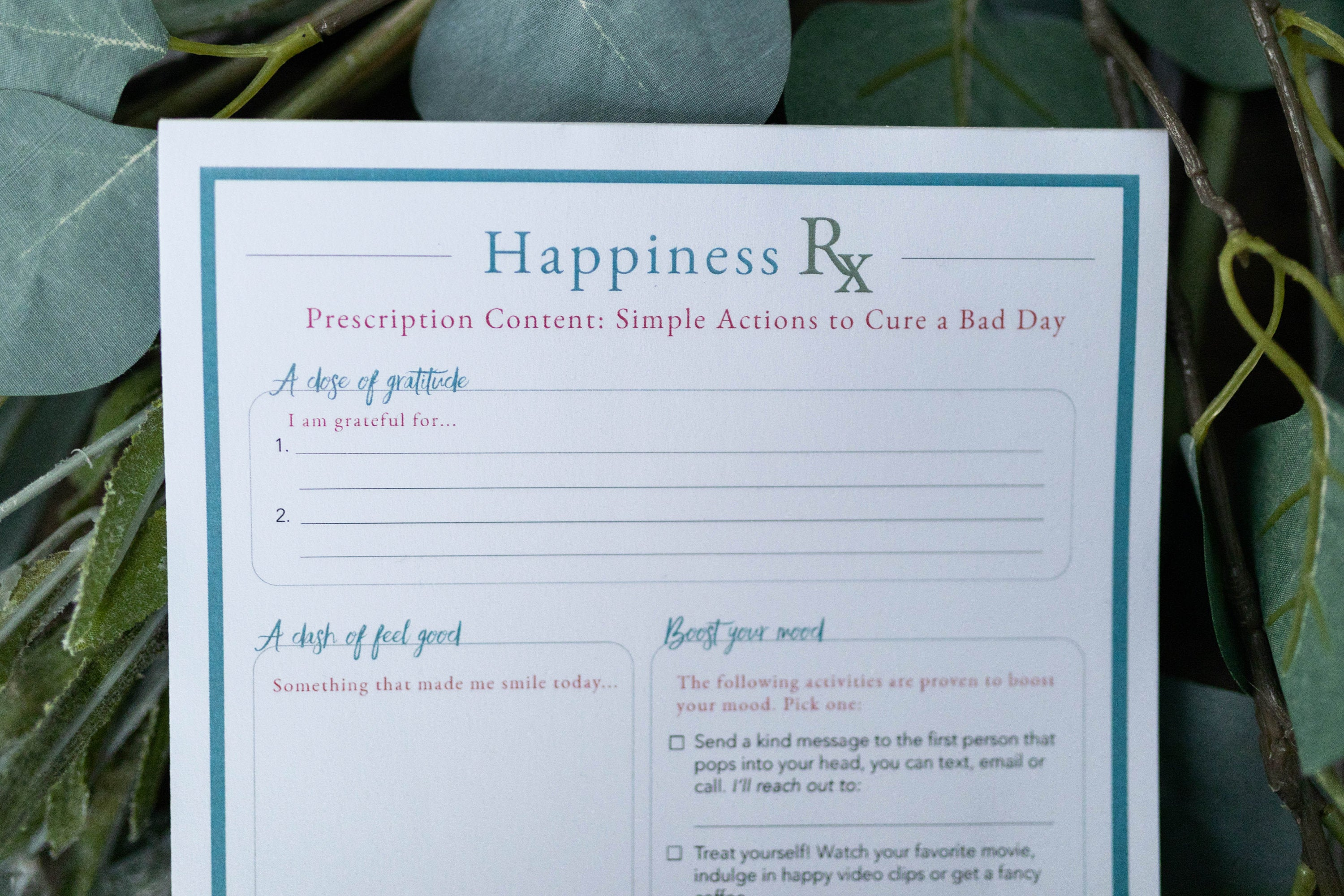 Happiness RX Notepad