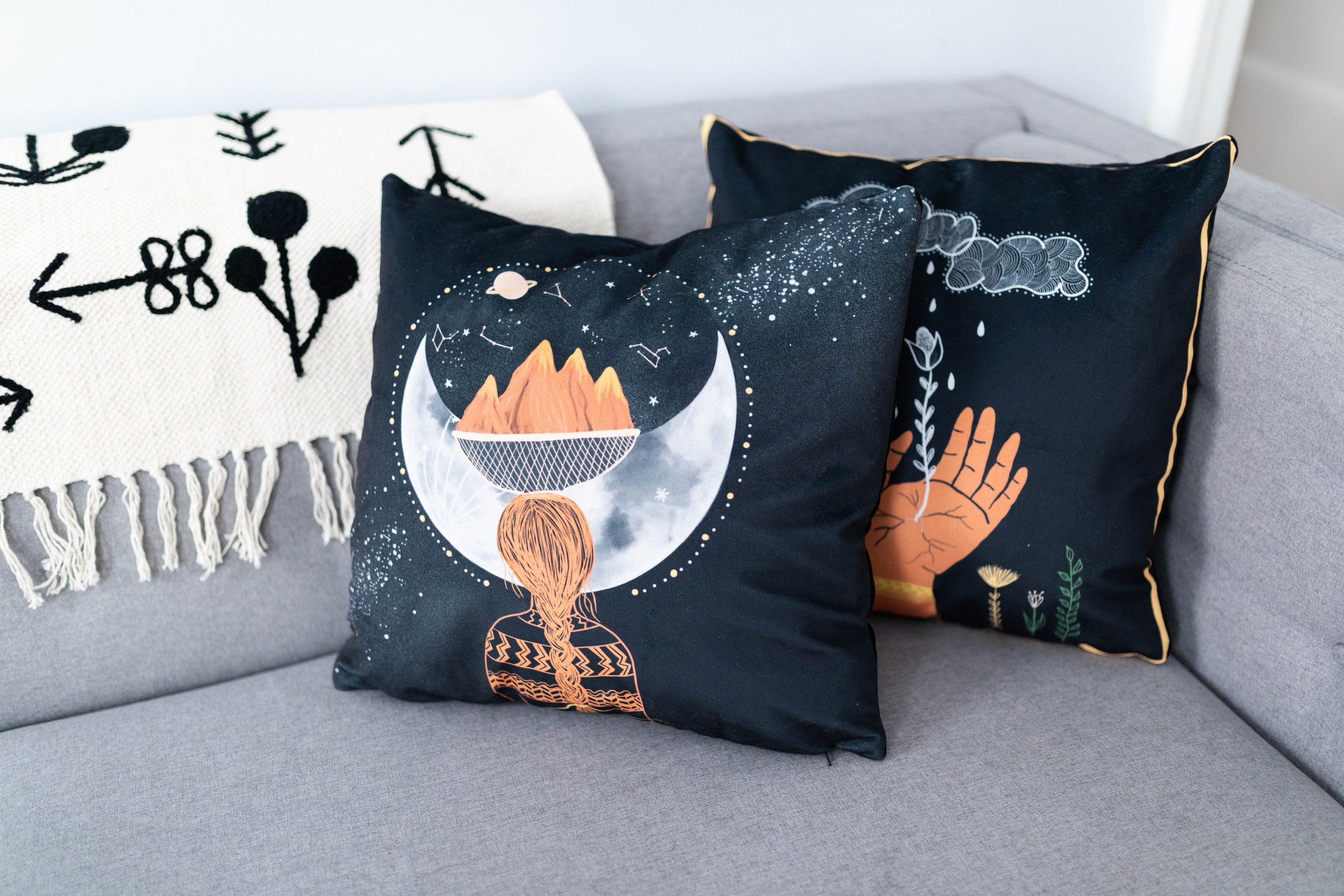 Moon Mother Pillow Cover