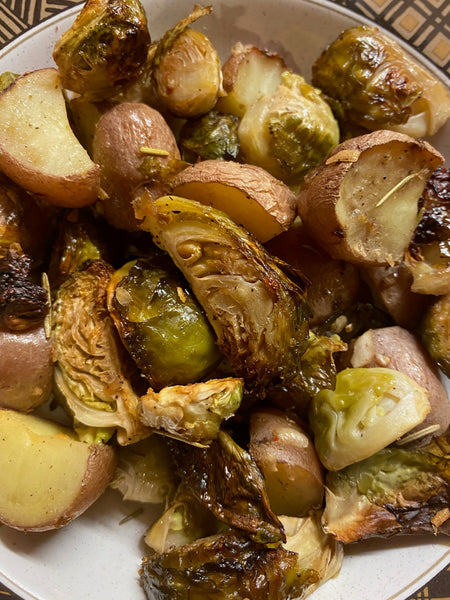 Roasted Brussels and Potatoes