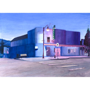 At The Oliver Theatre, Watercolor Print