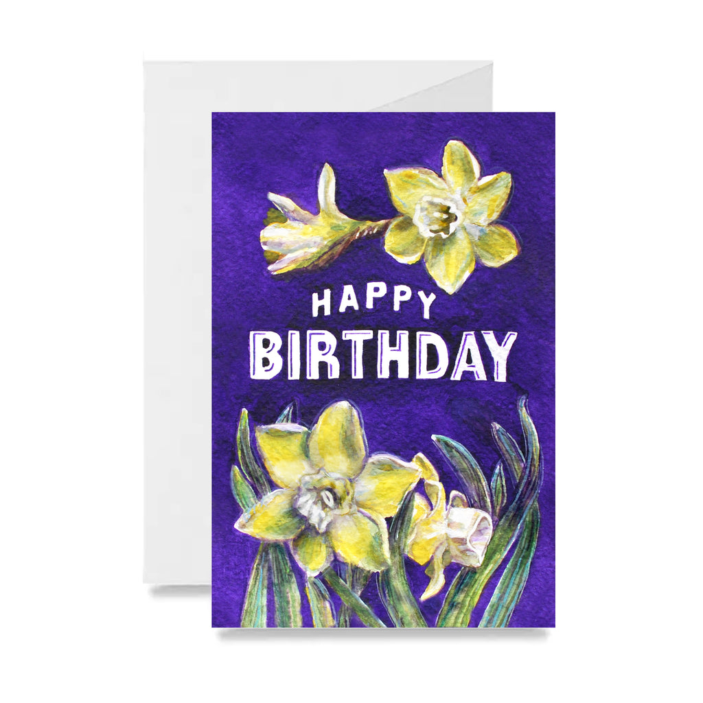 Birthday Daffodil Card