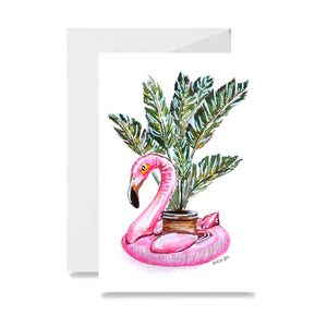 Flamingo Floaty Card
