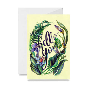Fern Wreath Hello Card