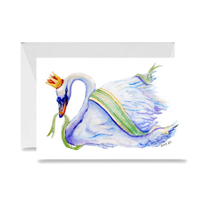 Swan-A-Swimming Card
