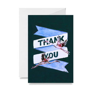 Flamingo Thank You Card
