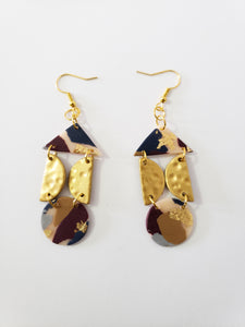 Dangles in Terrazzo and Brass