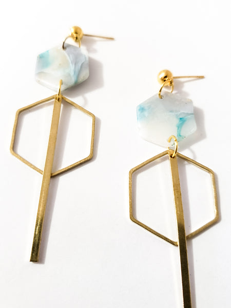 Honeycomb 2 in Layered Crystal (Teal)