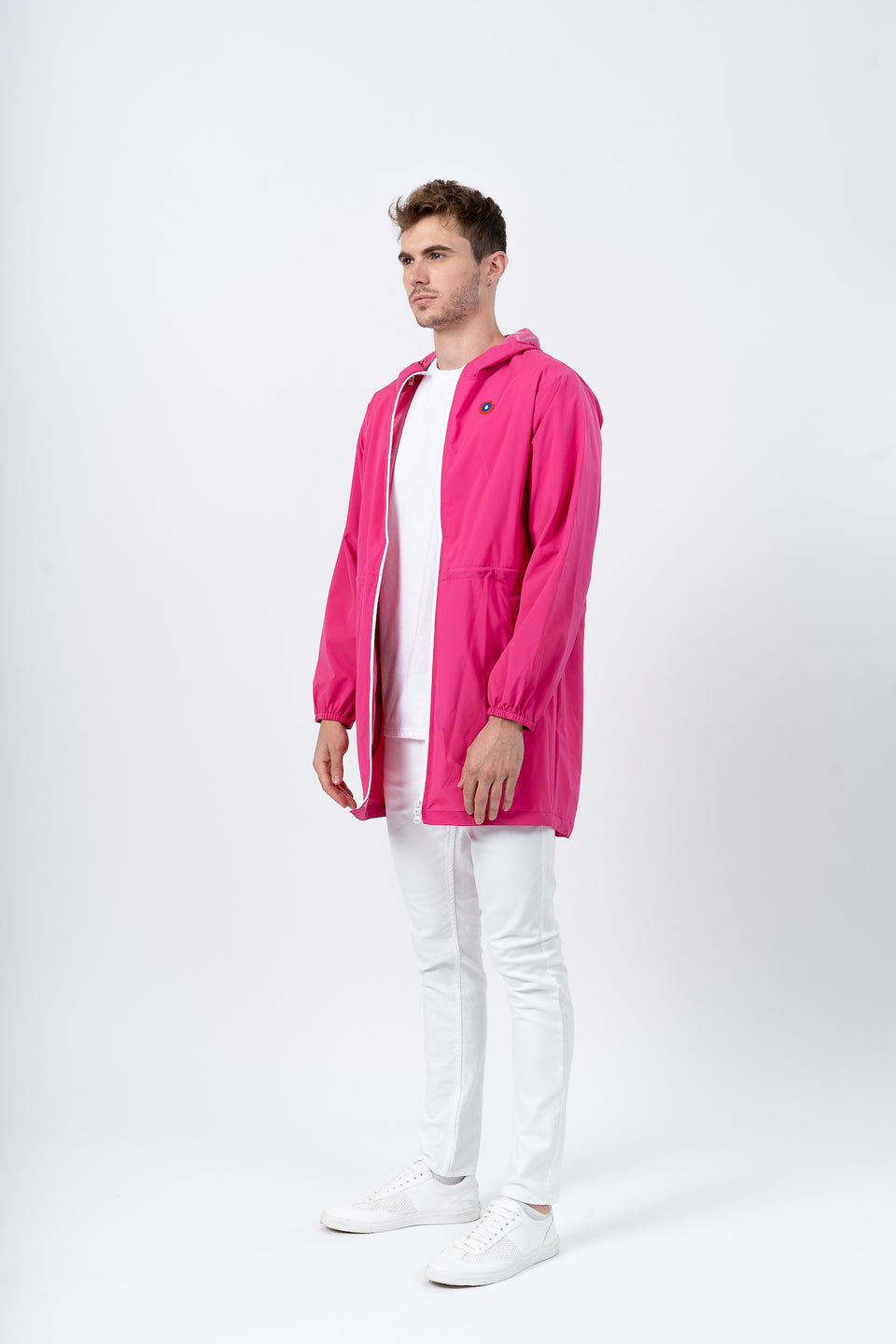 Amelot imperméable long fuschia