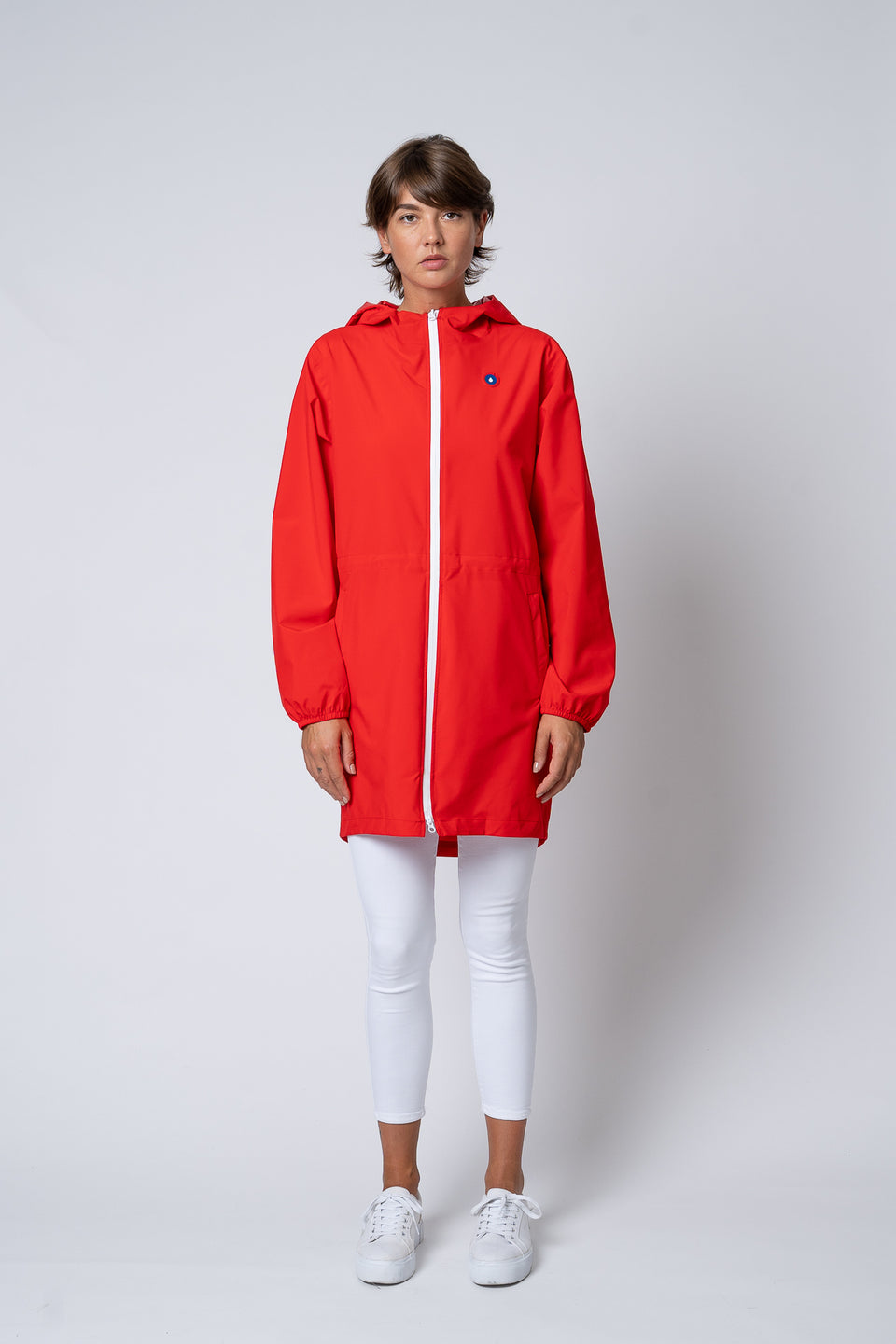 Amelot imperméable long rouge