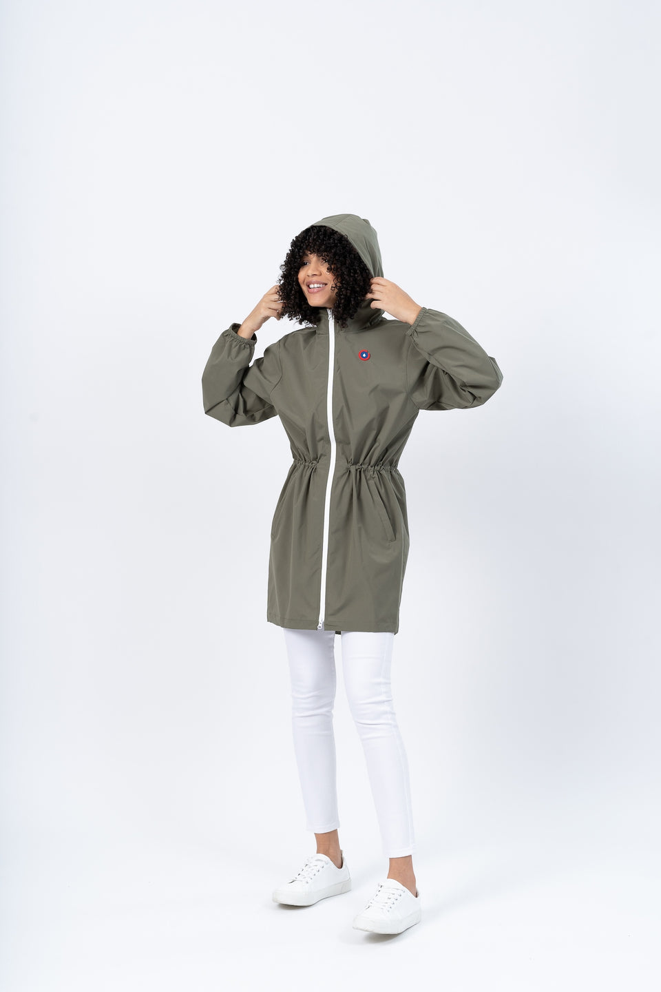 Amelot imperméable long kaki