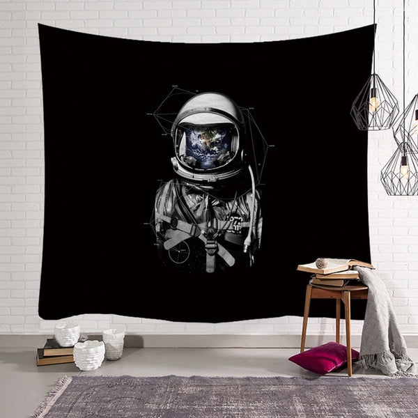 The Earth Astronaut Wall Tapestry - AJOONII