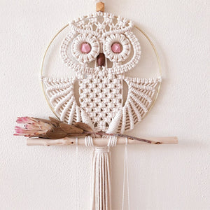 Owl Hand-woven Macrame Wall Hanging - AJOONII