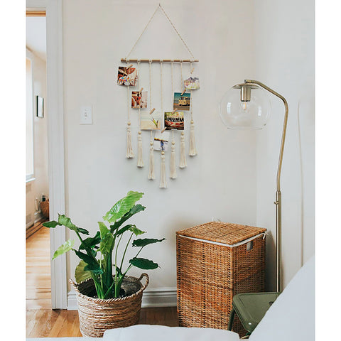 Photo Clip Macrame Wall Hanging - AJOONII