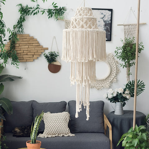 Macrame Wall Tapestry Lampshade - AJOONII