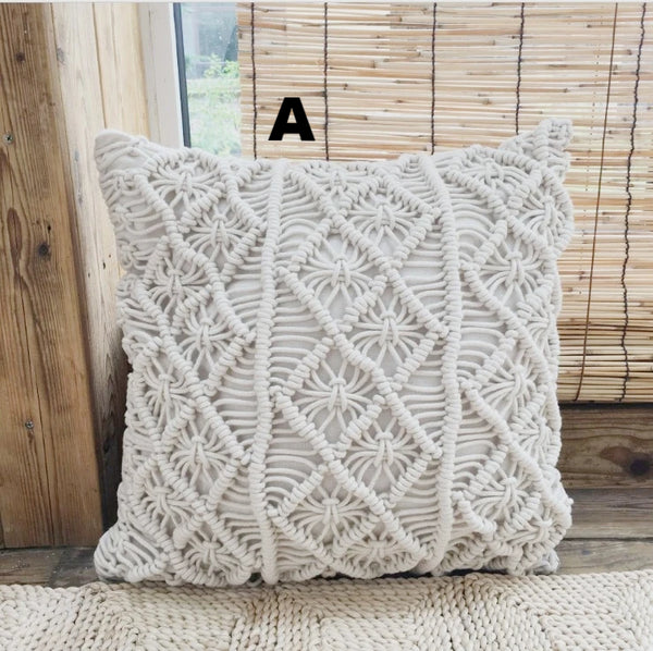 Macrame Hand-Woven Cotton Thread Pillow Covers - AJOONII