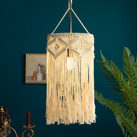 Modern Jacquard Bohemian Chandelier Lampshade - AJOONII