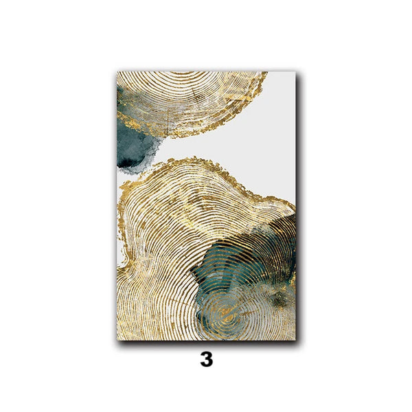 Leaf and Trunk Texture Abstract Canvas Prints - AJOONII