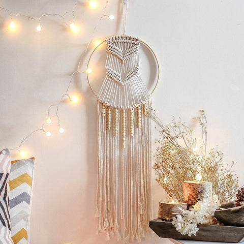 Bohemian Ring Macrame Dreamcatcher Wall Hangings - AJOONII
