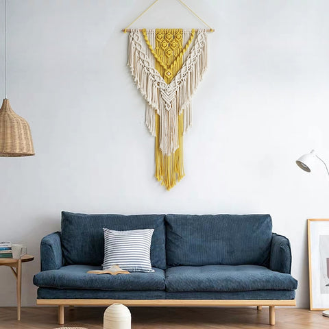 Dual Color Macrame Wall Hanging - AJOONII
