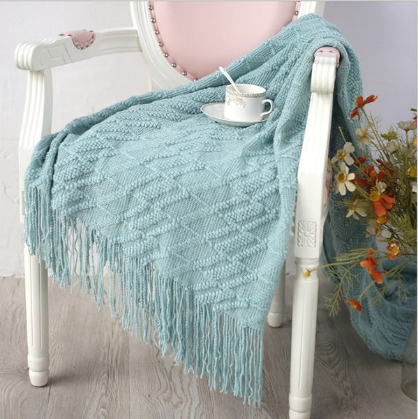 Tassel & Knits Throw Blankets - AJOONII