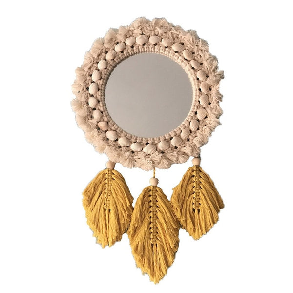 Peach And Yellow Wall Mirror - AJOONII