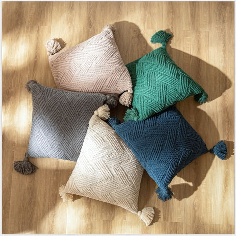Earthy Homes - Throw Pillow Covers - AJOONII