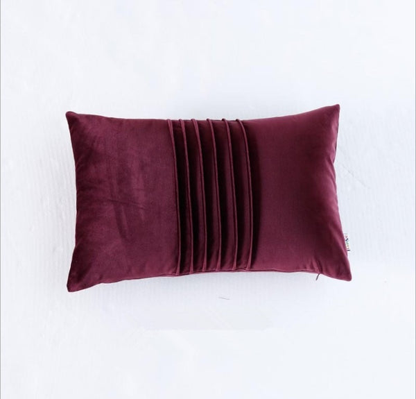 Soft Velvet Hand Pleated Embroidered Pillow Covers - AJOONII