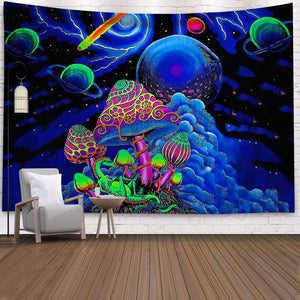 The Neon World Wall Tapestry - AJOONII