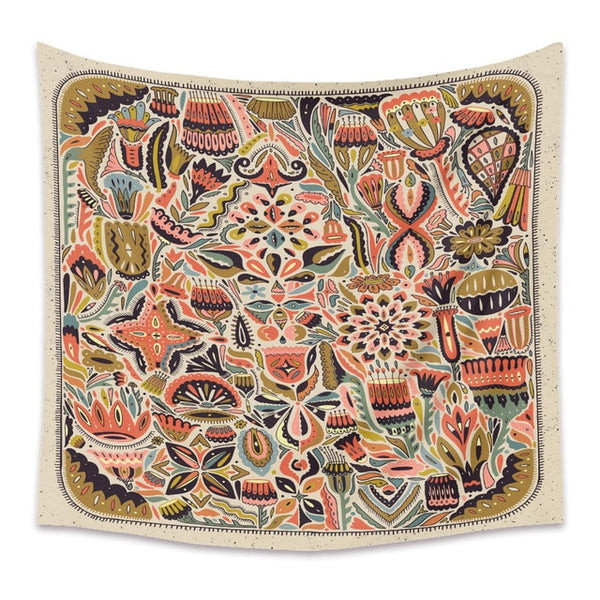 Wild Flower Pattern Wall Tapestry - AJOONII