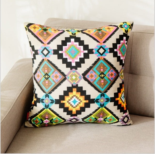 Kilim Cotton Canvas Pillow Covers - AJOONII