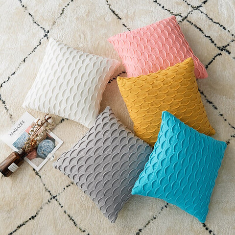 Solid Colors Crochet Knitted Pillow Covers - AJOONII