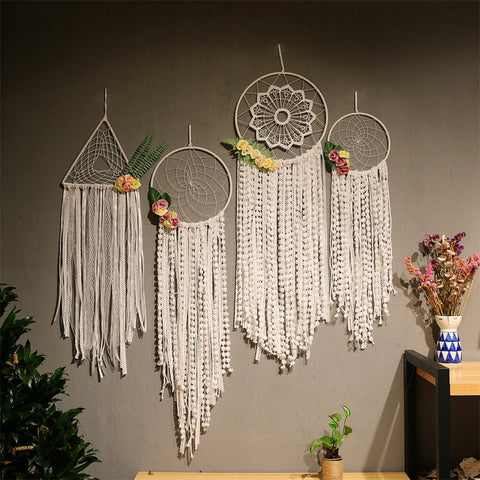 Dream catcher Flowers Wall Hanging - AJOONII