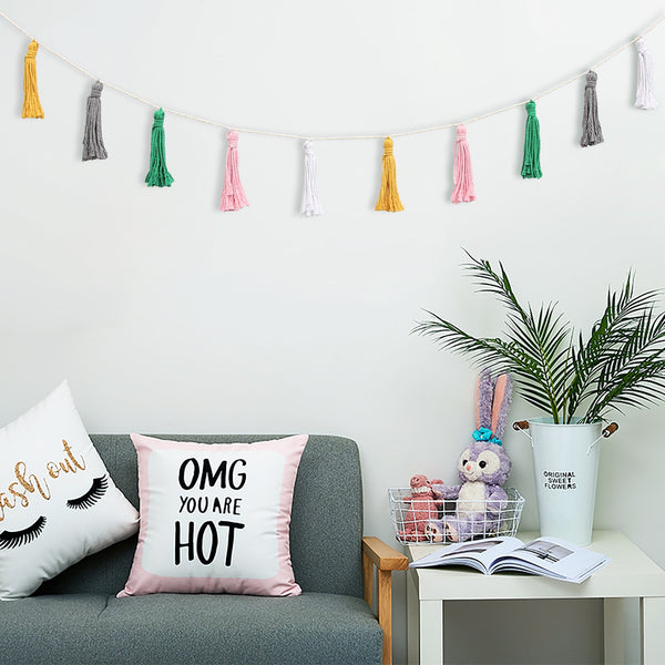 Colorful Tassel Wall Hanging (2 Pcs) - AJOONII