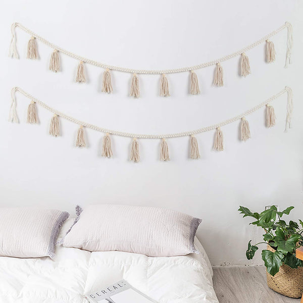 Macrame Tassel Wall Hanging (2 Pieces) - AJOONII