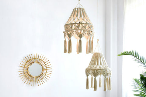 Boho Hand-woven Chandelier Lampshade - AJOONII