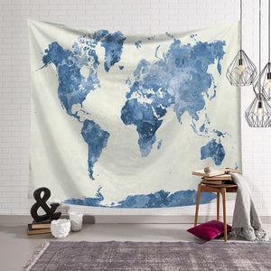 World Map Wall Tapestry | AJOONII