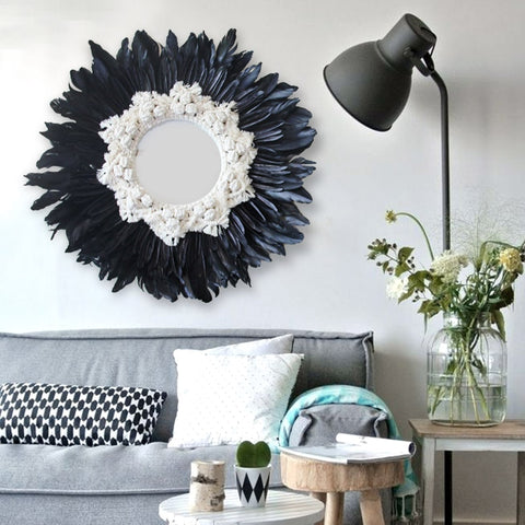 Modern Feather Wall Mirror - AJOONII