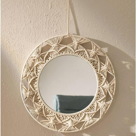 Knot Knit Mirror Wall Hanging - AJOONII