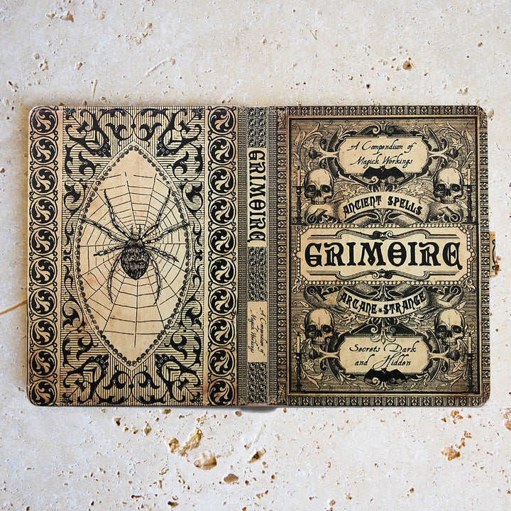 Grimoire Magic Spells - Luxury Faux Leather Case - Universal eReaders