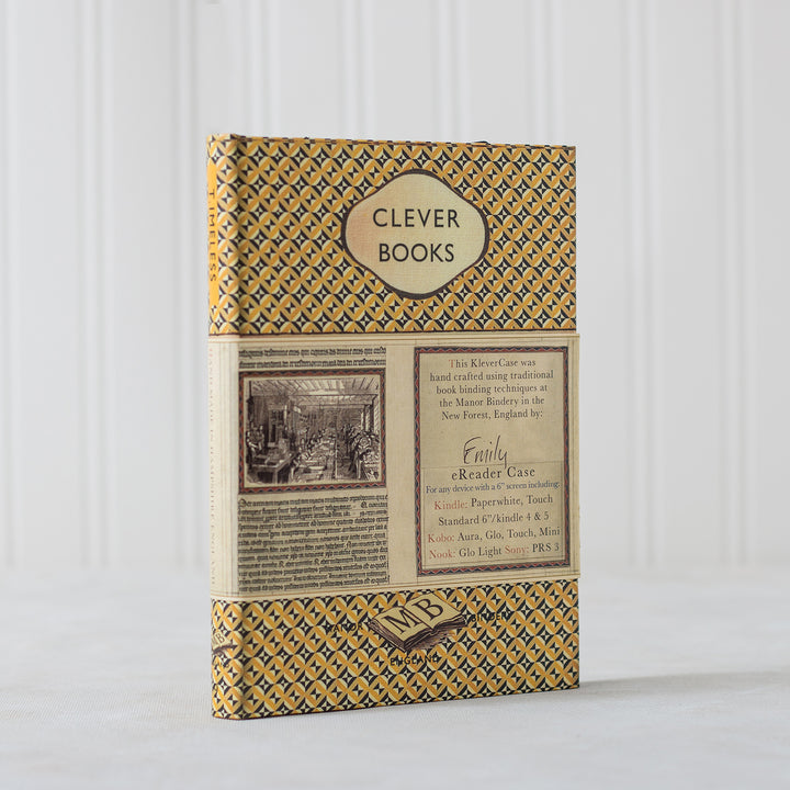 Customised Vintage Hardback Book Cover - Various Colours - Universal Case