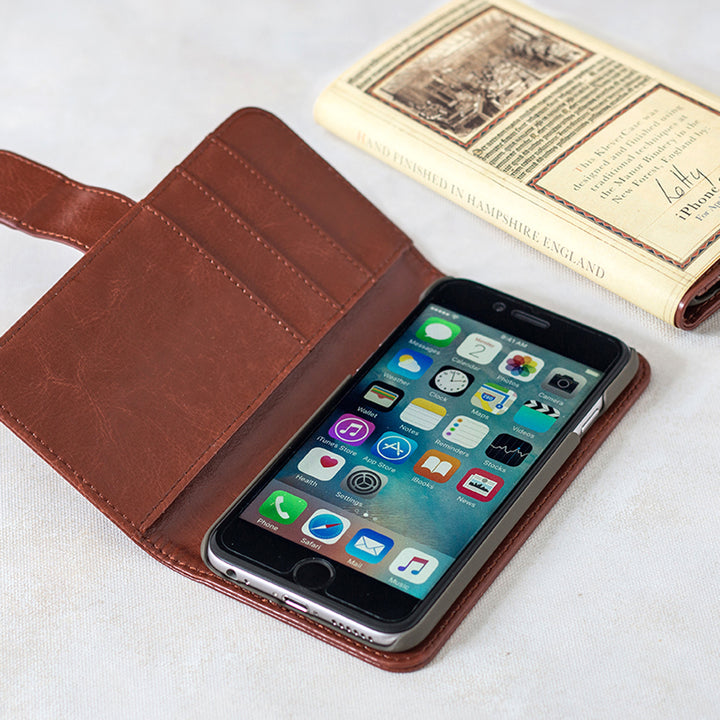 v-Leather Book Case - iPhone 6/7/8 - Classic Navy