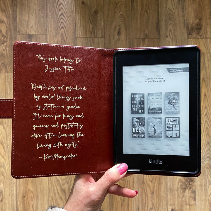 Vegan Leather Case - Kindle Oasis Case