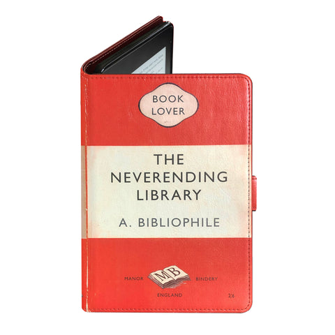 Neverending Library - Luxury Faux Leather Case - Kindle Oasis