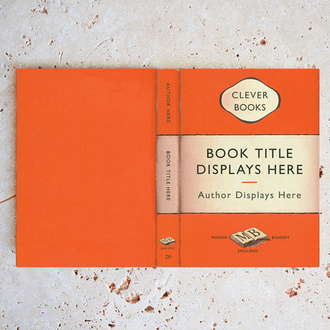 Custom Penguin Book Cover in Orange