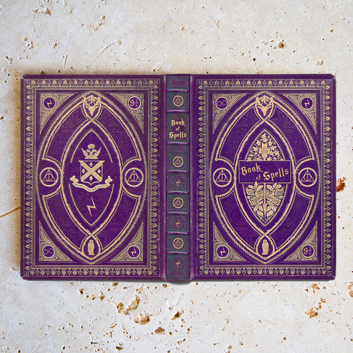 Purple Book of Spells - Luxury Faux Leather Case - Kindle Paperwhite