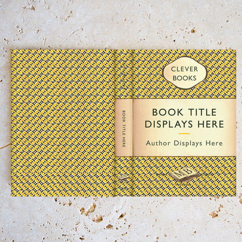 Custom Penguin Book Cover in Geometric Yellow