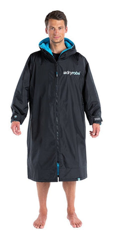 dryrobe® ADVANCE LONG SLEEVE - BLACK/BLUE - Atlantic Kayaks & Leisure