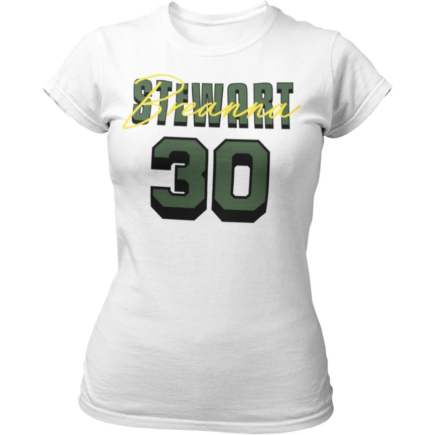 Breanna Stewart SEA Signature Fitted White Tee