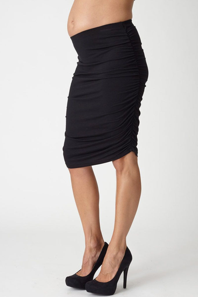 Rouched Maternity Skirt